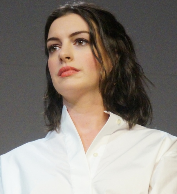 Anne Hathaway at the NY Press Day of THE INTERN.