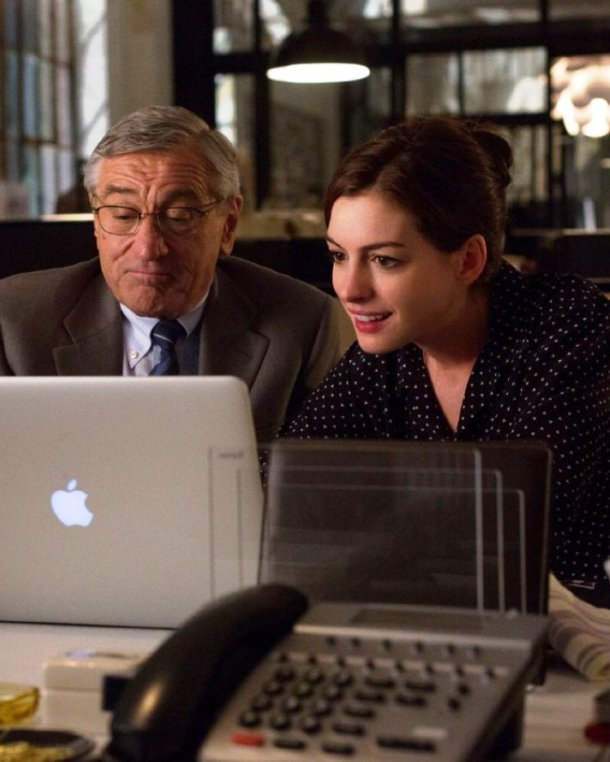 Robert De Niro and Anne Hathaway star in THE INTERN.