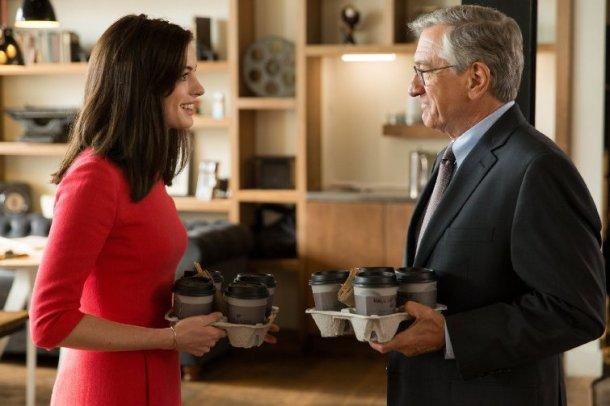 Robert De Niro and Anne Hathaway star in THE INTERN.