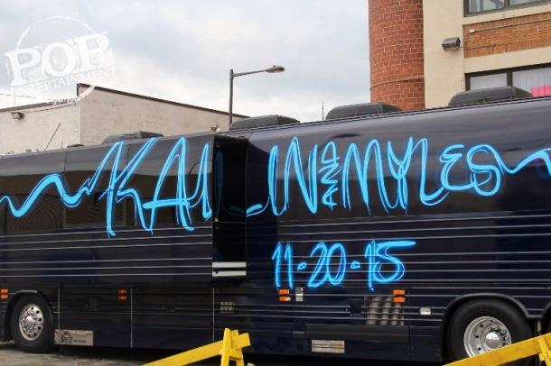 Kalin & Myles bus at the Electric Factory in Philadelphia. Photo copyright 2015 Deborah Wagner.