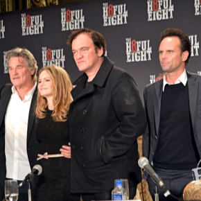 Quentin Tarantino, Kurt Russell, Jennifer Jason Leigh, Walton Goggins, Bruce Dern, Demián Bichir, Tim Roth and Michael Madsen – Holed Up With The Hateful Eight