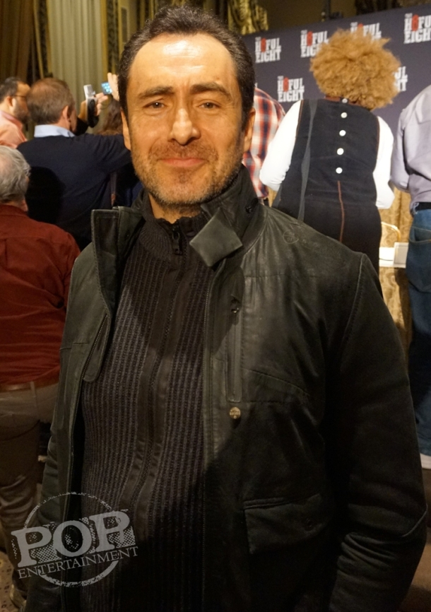 "Demian Bichir at the New York Press Conference for ""The Hateful Eight."" Photo copyright 2015 Brad Balfour."