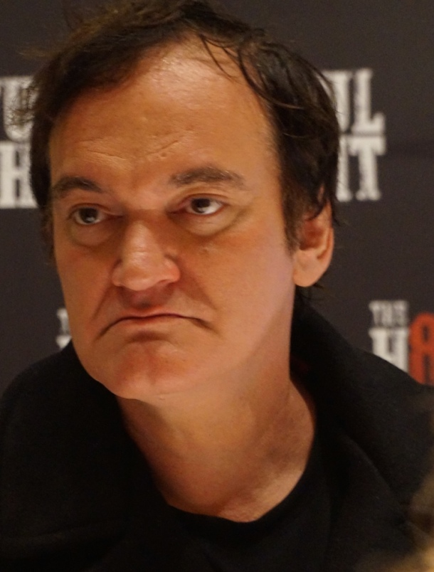 "Quentin Tarantino at the New York Press Conference for ""The Hateful Eight."" Photo copyright 2015 Brad Balfour."