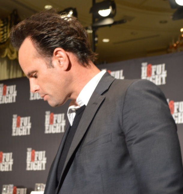 "Walton Goggins at the New York Press Conference for ""The Hateful Eight."" Photo copyright 2015 Jay S. Jacobs."