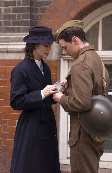 Keira Knightley and James McAvoy star in ATONEMENT.