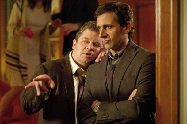 Patton Oswalt and Steve Carell star in SEEKING A FRIEND AT THE END OF THE WORLD.