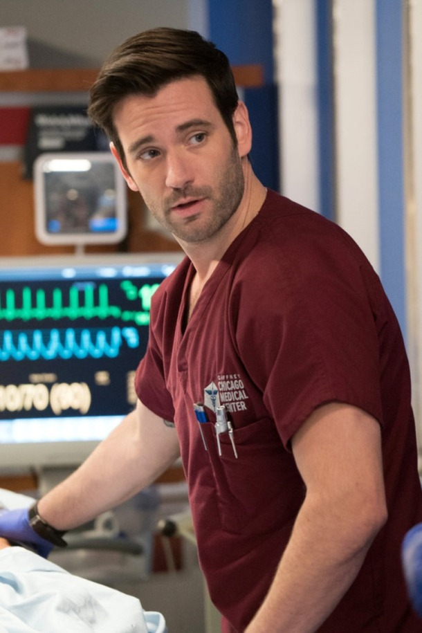 "CHICAGO MED -- ""Bound"" Episode 106 -- Pictured: Colin Donnell as Dr. Connor Rhodes -- (Photo by: Elizabeth Sisson/NBC)"