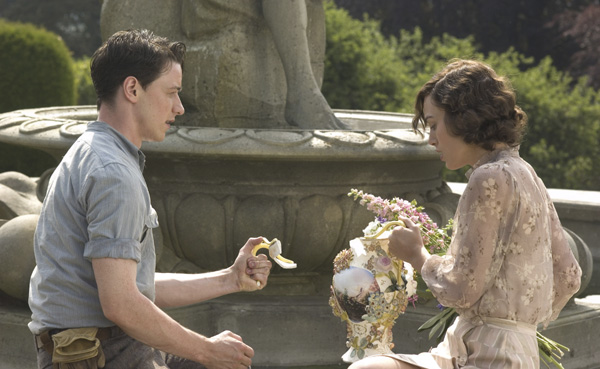 James McAvoy and Keira Knightley star in ATONEMENT.