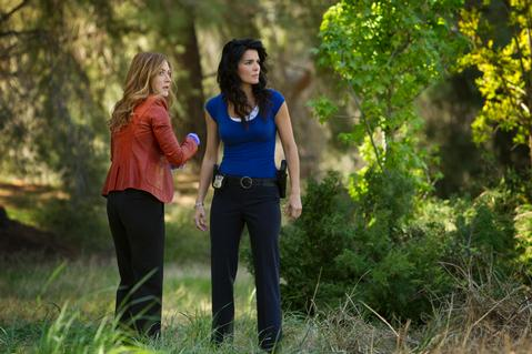 "Sasha Alexander and Angie Harmon in ""Rizzoli and Isles."""