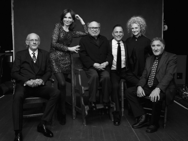 MUST SEE TV: AN ALL-STAR TRIBUTE TO JAMES BURROWS -- Season: 2016 -- Pictured: (l-r) Christopher Lloyd, Marilu Henner, Danny DeVito, Tony Danza, Carol Kane, Judd Hirsch -- (Photo by: Art Streiber/NBC)