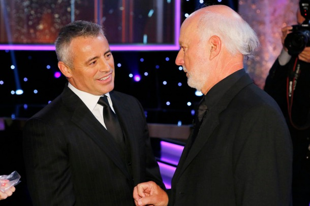 MUST SEE TV: AN ALL-STAR TRIBUTE TO JAMES BURROWS -- Pictured: (l-r) Matt LeBlanc, James Burrows -- (Photo by: Trae Patton/NBC)