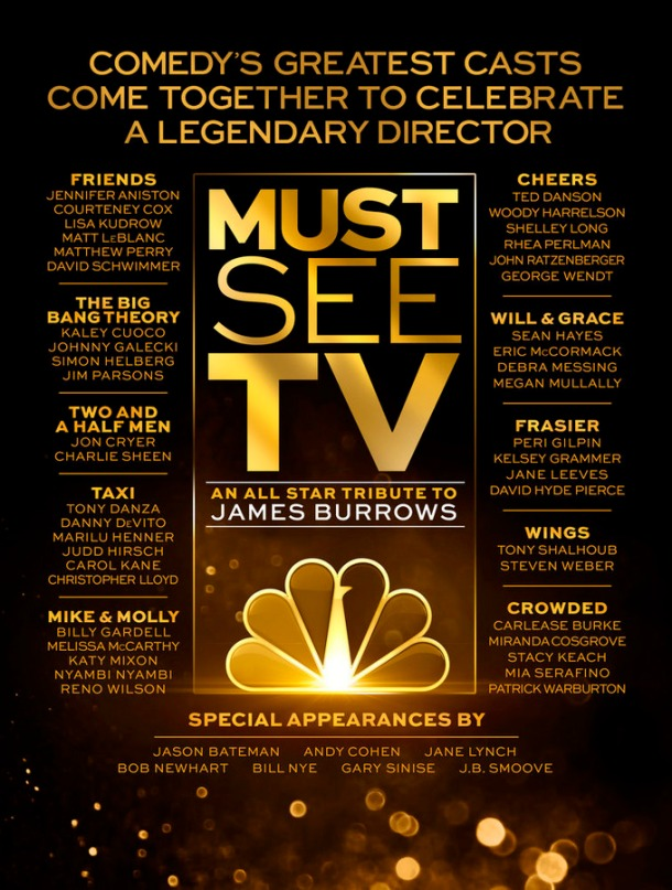 "MUST SEE TV: AN ALL STAR TRIBUTE TO JAMES BURROWS -- Pictured: ""Must See TV: An All Star Tribute to James Burrows"" Key Art -- (Photo by: NBCUniversal)"