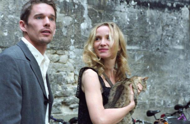 """Ethan Hawke and Julie Delpy star in """"Before Sunset."""""""