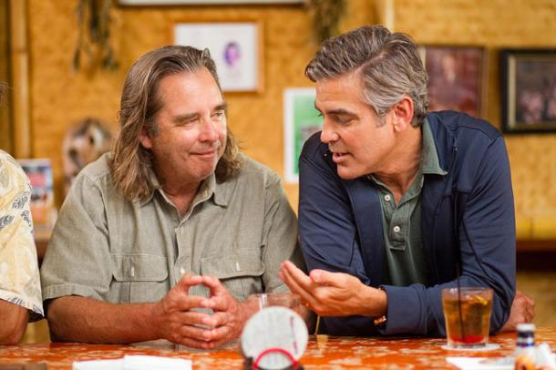Beau Bridges and George Clooney in The Descendants.