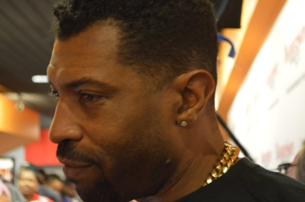 "Deon Cole at the ""Barbershop: The Next Cut"" premiere at the Pearl Theater in Philadelphia."