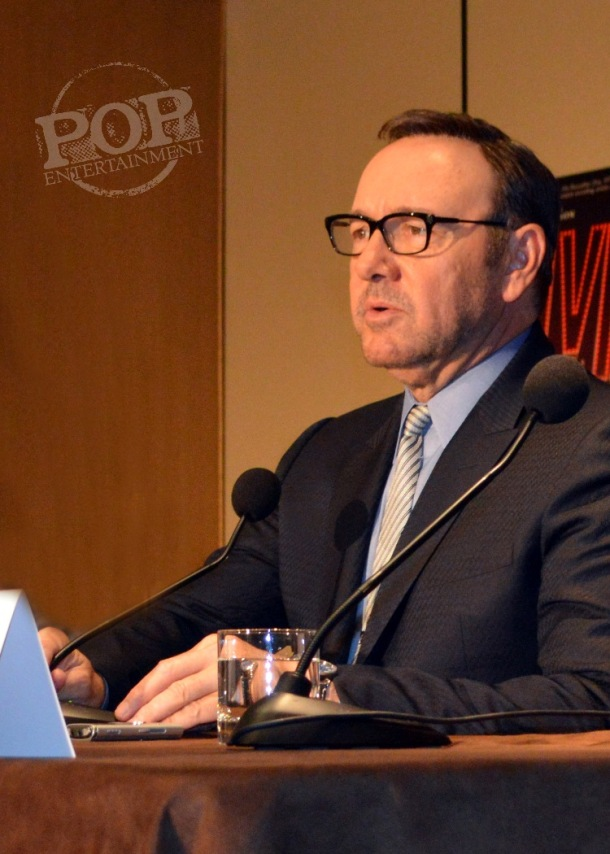 """Kevin Spacey at the New York Press Conference for """"Elvis & Nixon"""" at the Conrad New York April 18, 2016. Photo copyright 2016 Jay S. Jacobs."""