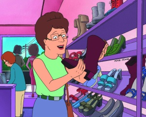 "KING OF THE HILL: When Carolyn realizes Peggy is biologically a woman, it's up to Hank and the drag queens to help Peggy rediscover her femininity in the ""The Peggy Horror Picture Show"" episode of KING OF THE HILL Sunday, Jan. 28 (7:30-8:00 PM ET/PT) on FOX.  KING OF THE HILL ª and ©2007 ALL RIGHTS RESERVED."