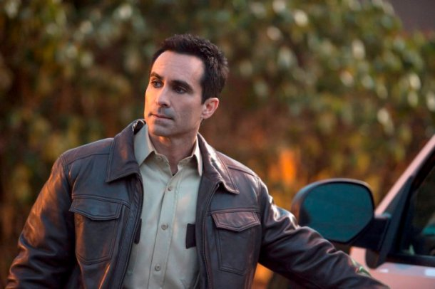 """BATES MOTEL -- """"Refraction"""" Episode 405 -- Pictured: Nestor Carbonell as Alex Romero -- (Photo by: Cate Cameron/Universal Television)"""