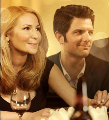 "Jennifer Westfeldt and Adam Scott star in ""Friends With Kids."""