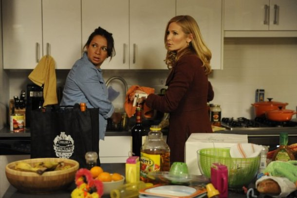"Maya Rudolph and Jennifer Westfeldt star in ""Friends With Kids."""