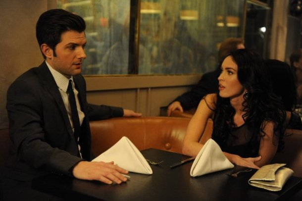 "Adam Scott and Megan Fox star in ""Friends With Kids."""