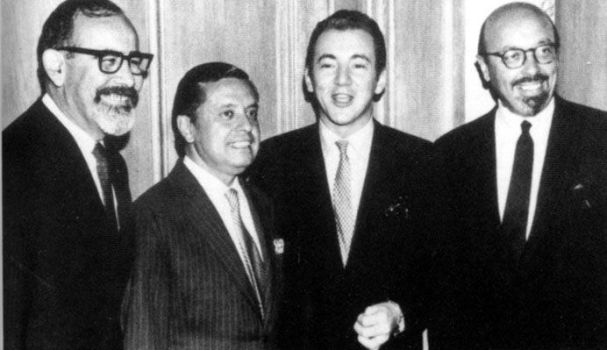 Jerry Wexler, Neshui Ertegun, Bobby Darin and Ahmet Ertegun.