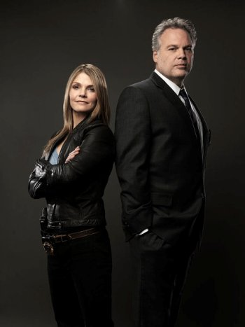 LAW & ORDER: CRIMINAL INTENT -- Season: 10 -- Pictured: (l-r) Kathryn Erbe as Detective Alexandra Eames, Vincent D'Onofrio as Detective Robert Goren -- Photo by: Marco Grob/USA Network