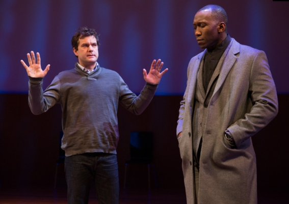 "Joshua Jackson and Mahershala Ali in ""Smart People."""