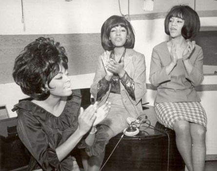 The Supremes: Diana Ross, Mary Wilson and Florence Ballard.