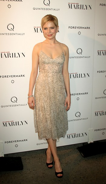 November 13, 2011 Michelle Williams attend the Quintessentially and Forevermark host of the NY premiere of the Weinstein Company's My Week with Marilyn at the Paris Theater in New York City.Credit:Roger Wong