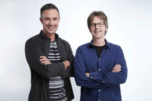 FIRST IMPRESSIONS -- Season:1 -- Pictured: (l-r) Freddie Prinze Jr, Dana Carvey -- (Photo by: Joseph Viles/USA Network)