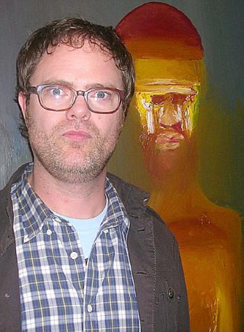 """Rainn Wilson at the NY press day for """"The Rocker."""""""