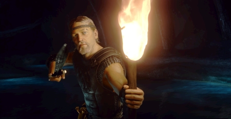 "Ray Winstone in ""Beowulf."""