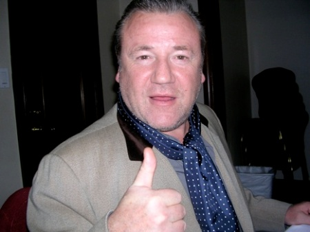 "Ray Winstone at the NY press day for ""Beowulf."""