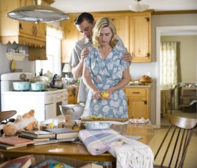 "Leonardo DiCaprio and Kate Winslet in ""Revolutionary Road."""