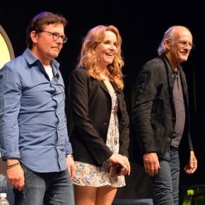 Michael J. Fox, Lea Thompson, Christopher Lloyd and Bob Gale – Gotta Get Back in Time to Back to the Future
