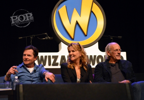 Michael J Fox, Lea Thompson and Christopher Lloyd talk Back to the Future at Wizard World Philly 2016 - Photo by Debbie Wagner.