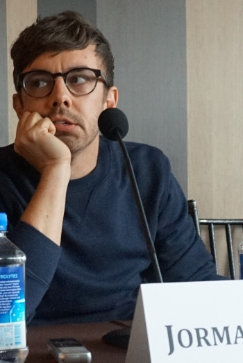 "Jorma Taccone at the NY press day for ""Popstar: Never Stop Never Stopping."""