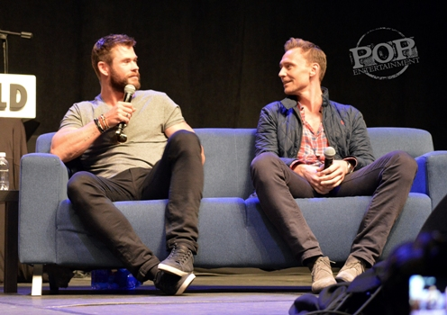 Chris Hemsworth and Tom Hiddleston talk Thor at Wizard World Philly 2016 - Photo by Debbie Wagner.