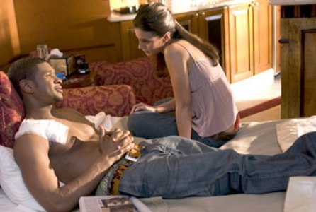 "Usher and Emmanuelle Chriqui star in ""In the Mix."""