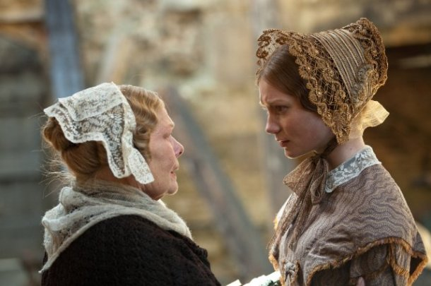 "Dame Judi Dench and Mia Wasikowska star in ""Jane Eyre."""