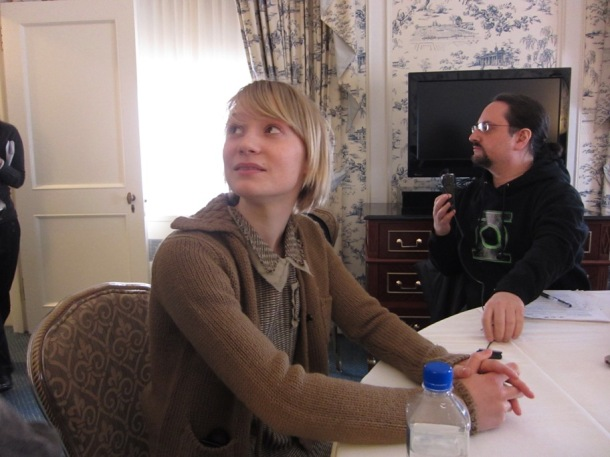 "Mia Wasikowska at the New York press day for ""Jane Eyre."""