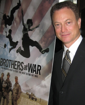 Gary Sinise at the NY press day for Brothers at War.