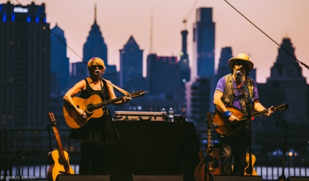 Shawn Colvin & Steve Earle – WXPN XPoNential Music Festival - Wiggins Waterfront Park & Marina – Camden, NJ – July 23, 2016 - Photo by Chris Sikich © 2016