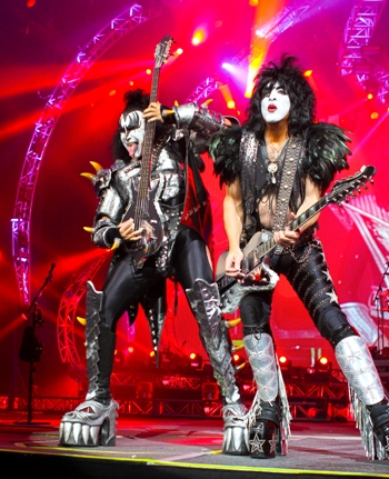 Gene Simmons and Paul Stanley of KISS.