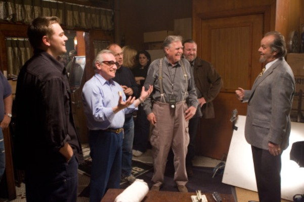 MARTIN SCORSESE and the cast and crew of THE DEPARTED.