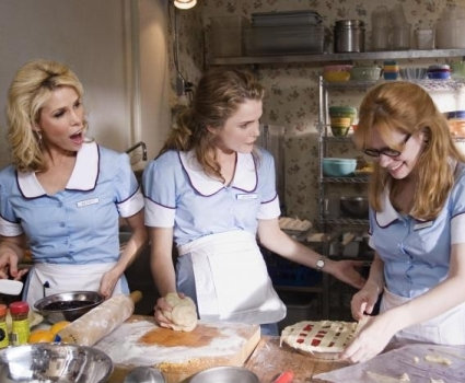 "Cheryl Hines, Keri Russell and Adrienne Shelly in ""Waitress."""