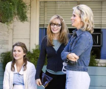 "Keri Russell, Adrienne Shelly and Cheryl Hines in ""Waitress."""