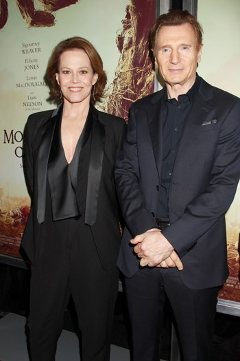 "-  New York, NY - 12/7/16 -The New York Premiere of ""A Monster Calls"" . The Film stars Liam Neeson and Sigourney Weaver   - Pictured:  Sigourney Weaver and  Liam Neeson - Photo by: Dave Allocca/Starpix -Location: AMC Loews Lincoln Square 13"