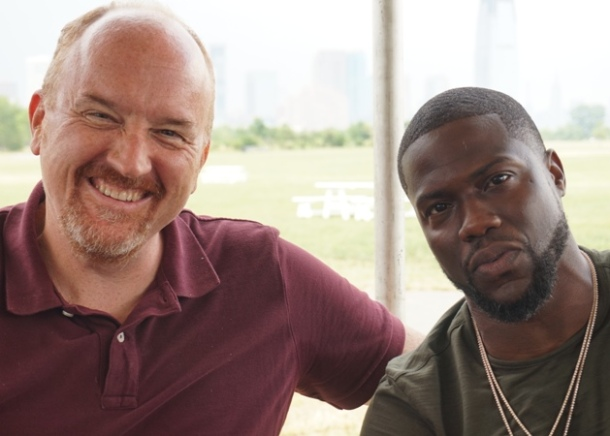 """Louis CK & Kevin Hart at the press day for """"The Secret Life of Pets."""""""